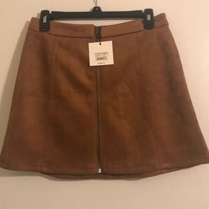 BB Dakota suede skirt